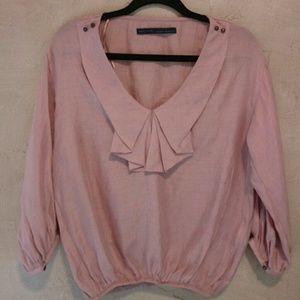 Zara Basic Chelsea Neck blouse Top